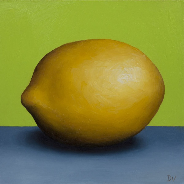 Still life with Lemon 7 - Daily Painting Challenge - Image 0