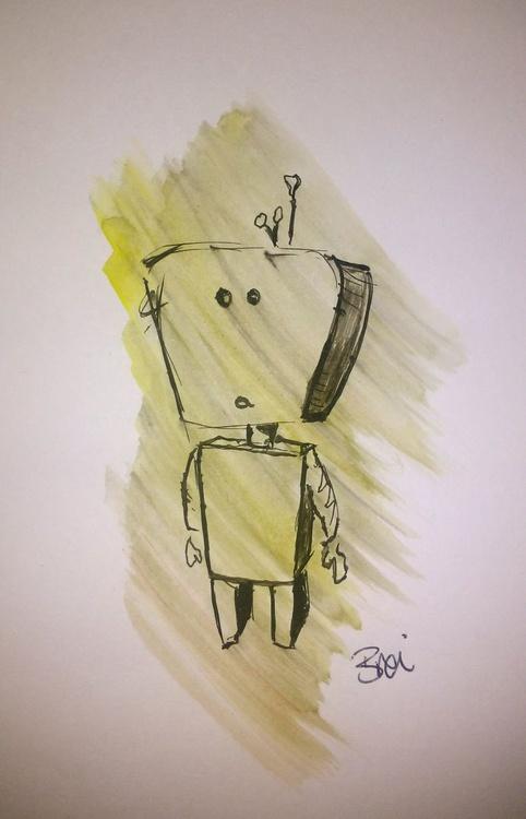 Robo Smudge: Doodle Illustration - Image 0