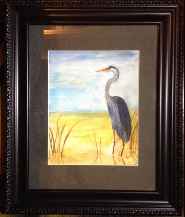 """""""Blue Heron in Reeds"""" - Image 0"""