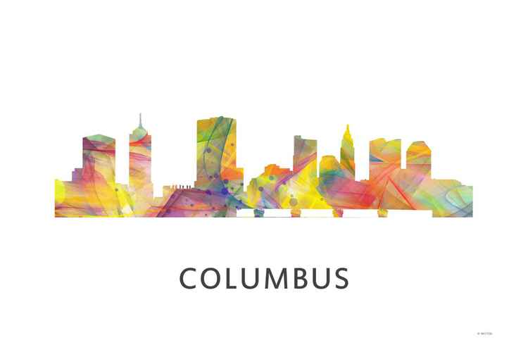 Columbus Ohio Skyline WB1 -