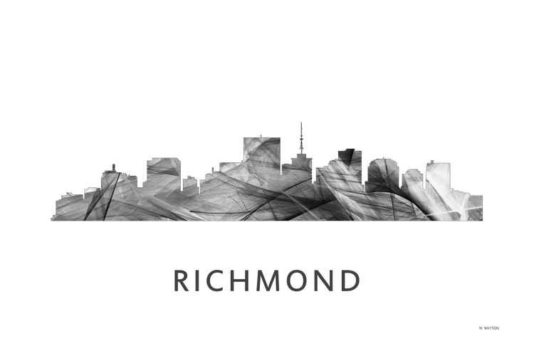 Richmond Virginia Skyline WB BW