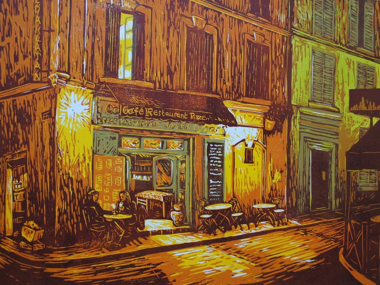 """""""Late Night at the Corner Cafe"""" - Image 0"""