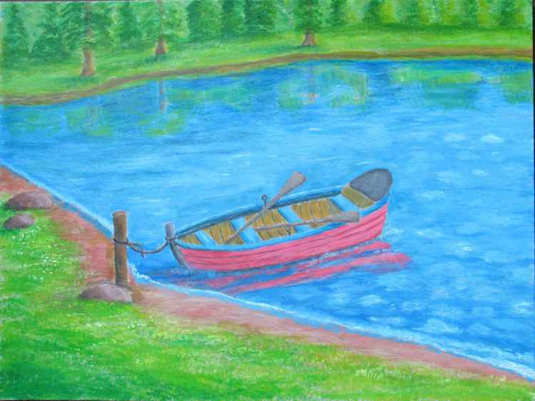 boat on lake -