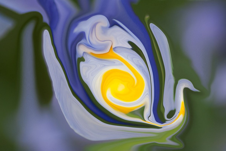blue and yellow abstract - Image 0