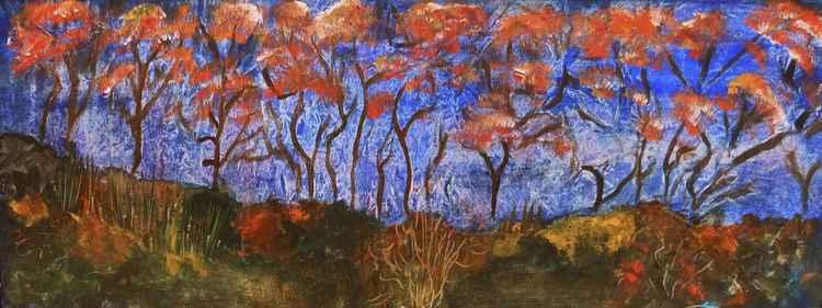 """Trees in bloom"""