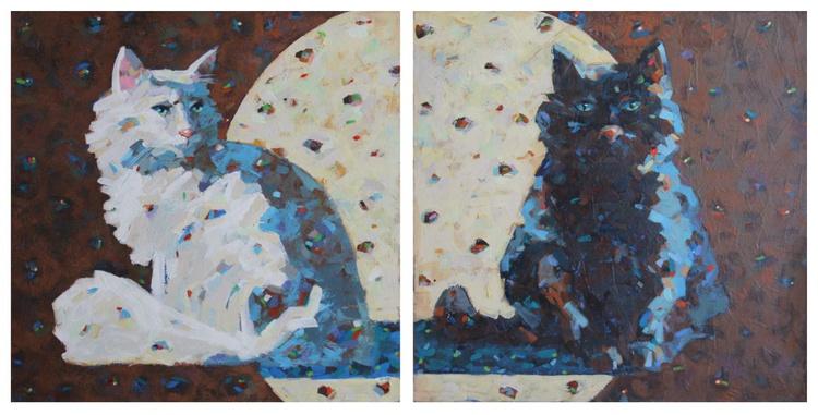Black cat white cat - Image 0