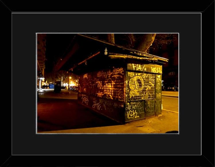 Glowing Graffitti - Trastevere Rome - Framed - Image 0