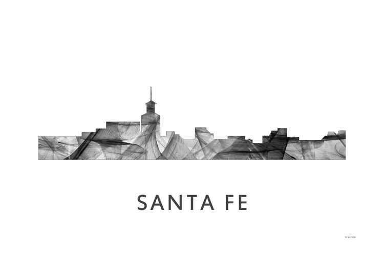 Santa Fe New Mexico Skyline WB BW -