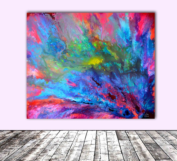 The Last Beauty - XXL Big Painting, - Large Painting - Ready to Hang, Hotel and Restaurant Wall Decoration - Image 0