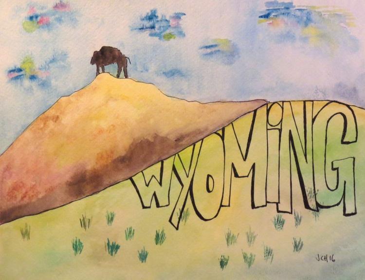 Buffalo Welcome to Wyoming - Image 0
