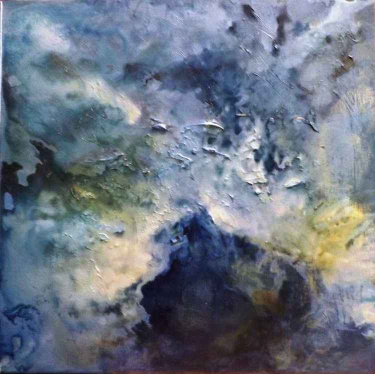 Indigo Sky,  16 x 16 inch Mixed Media on canvas - Image 0