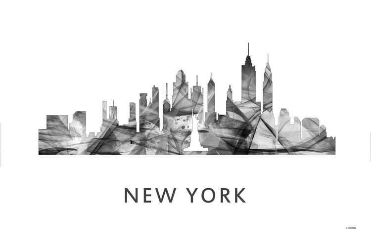 New York City New York Skyline WB BW