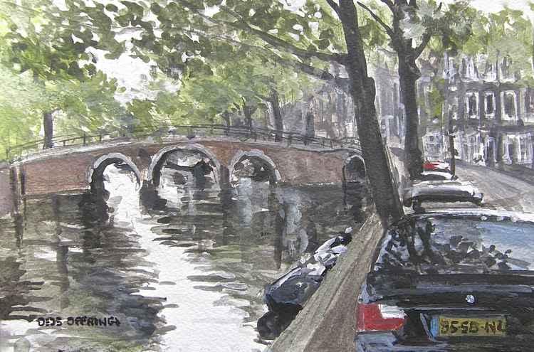 Prinsengracht, near the Utrechtsestraat Amsterdam. -