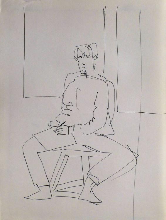 Self-portrait, Passage Charles-Albert, #11 24x32 cm - Image 0