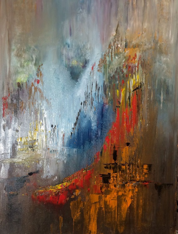 Abstract No.134 - Abstract Acrylic Painting - 24x32 inches - Image 0