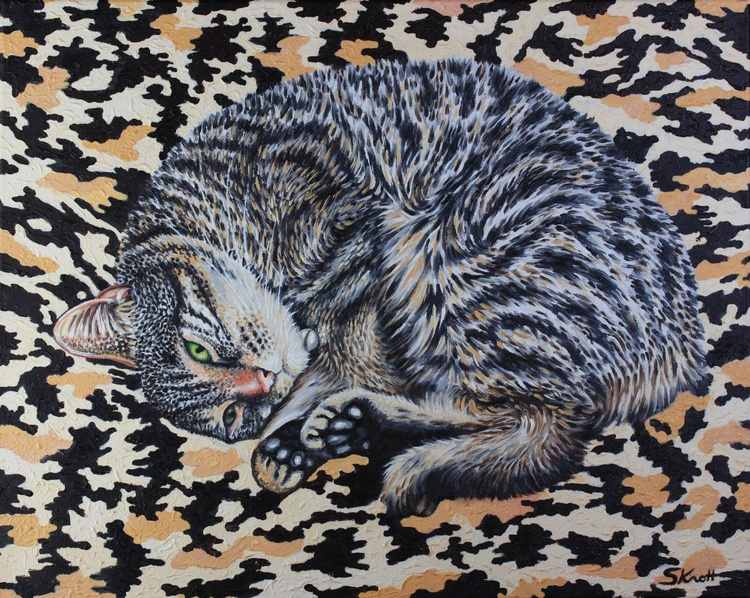 Gigi Camo * Portrait of my cat - Image 0