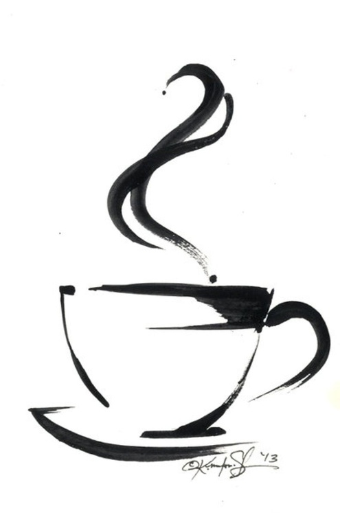 Brushstroke Coffee Cup No.5 - Image 0