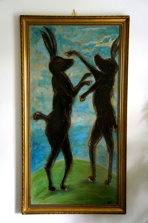 'Boxing Hares' - Image 0
