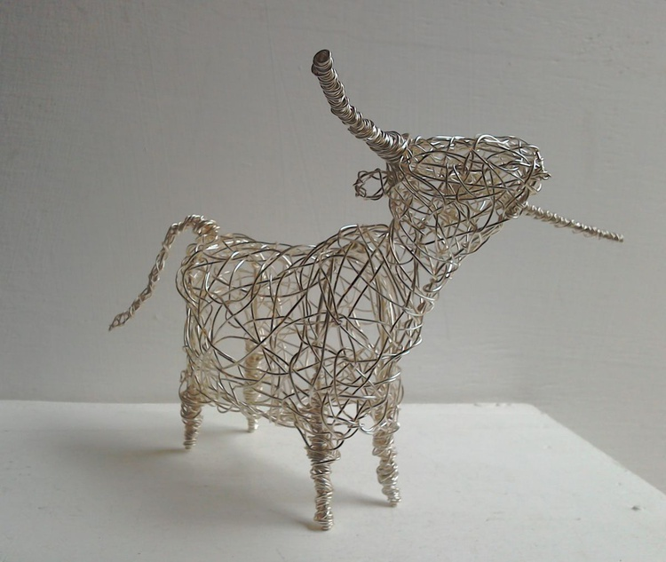 Silver Horned Cow - Image 0