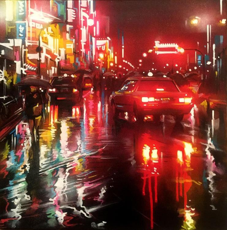 'Tokyo Cab' - Original painting on canvas - Image 0
