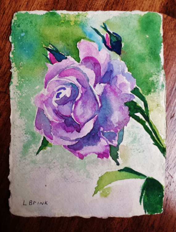watercolor rose floral - Image 0