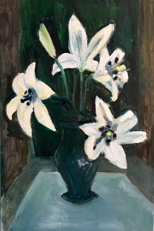 Vase of Lilies - Image 0