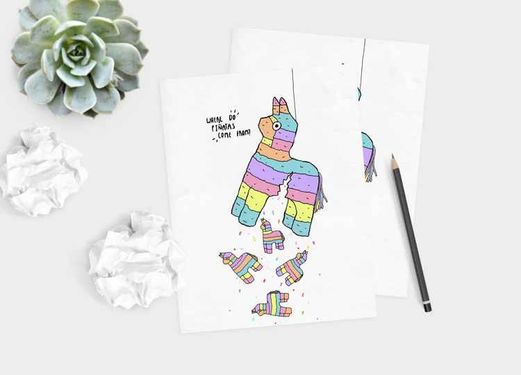 Where Do Pinatas A4 Print