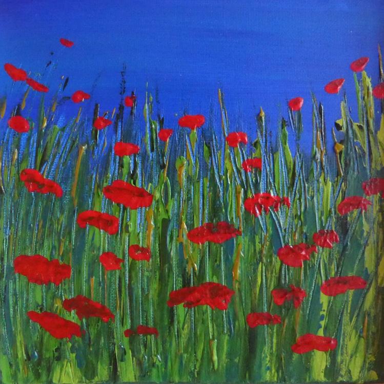 Jewel Poppies w/blue - Image 0