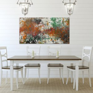 """Garden of Destiny - 24X46"""" - READY-TO-HANG by Lisa Carney"""
