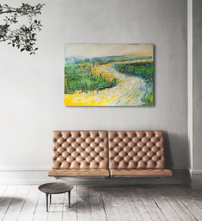"Canvas art 39.37/27.5(100/70cm).  ""Meadow VII"" - Image 0"