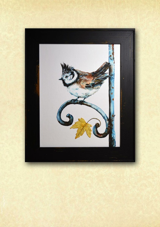The Last Leaf of Autumn. Framed. Ready to hang! - Image 0