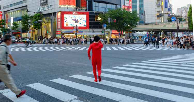 Red Figure, Shibuya Crossing, Tokyo