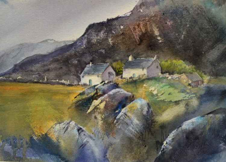 Hill Top Cottages #1 - Original Watercolour Painting