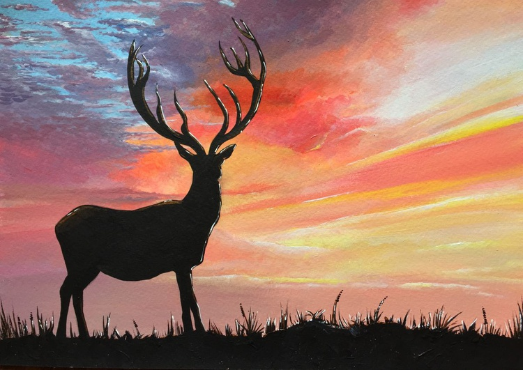 Sunset Stag - Image 0