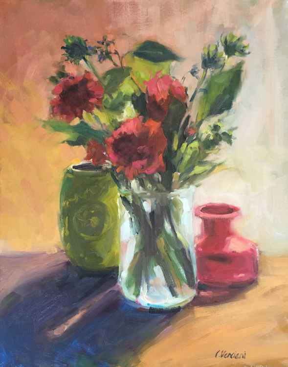 Still Life Flowers & Pots -