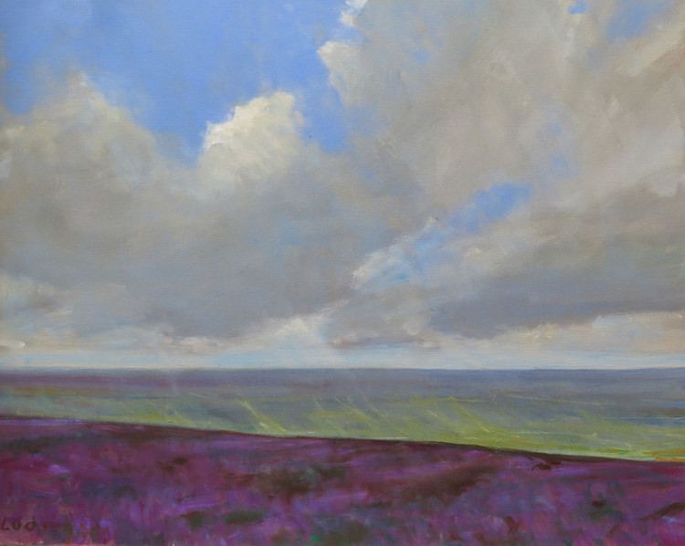 Heather at the head of Great Fryupdale in the North Yorkshire Moors. - Image 0