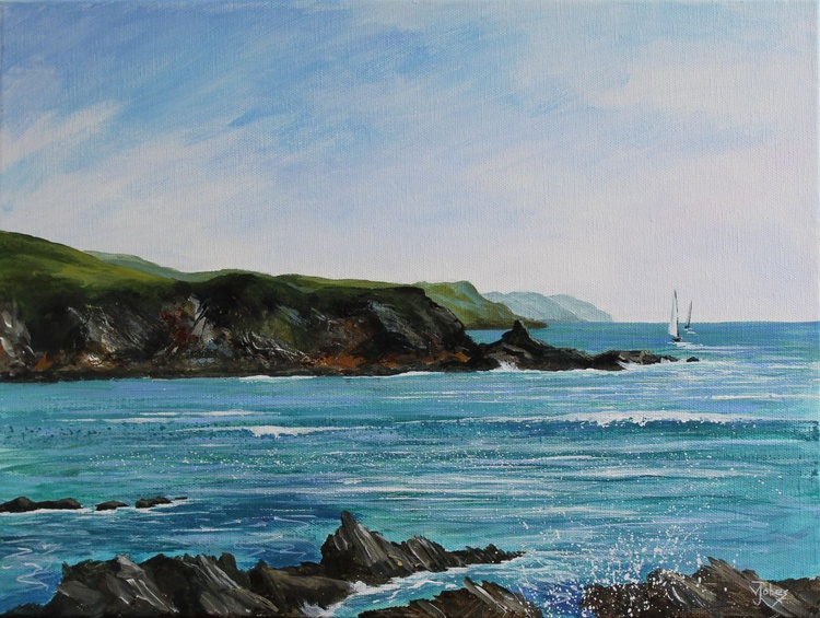 Spring morning at Polridmouth Bay - Image 0