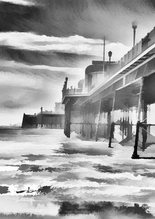 Greyscale Pier