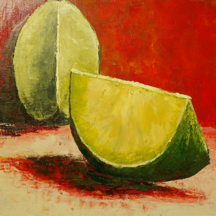 Slices of one Limette - Image 0