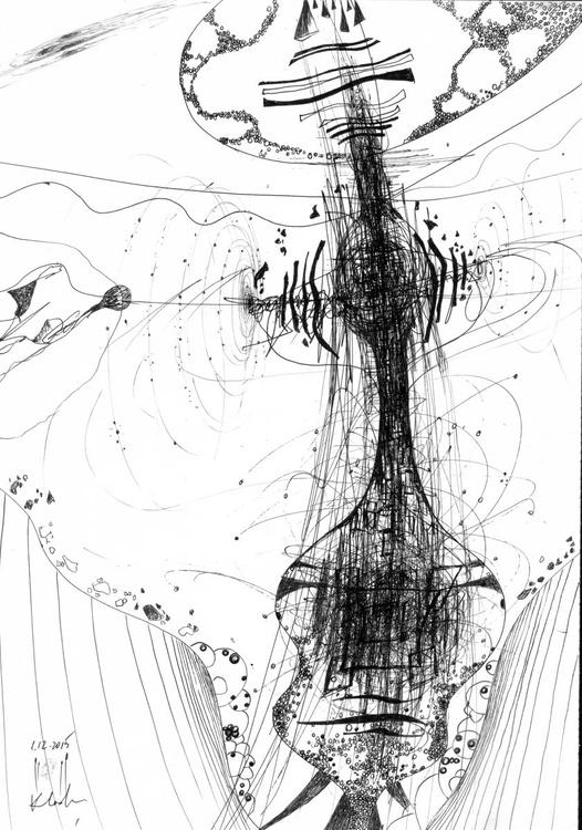 KLOSKA ARTWORKS TODAY BERGAINS TOMORROW TREASURES AFORDABLE ORIGINAL STILL LIKE BY MASTER KLOSKA INK ON PAPER - Image 0