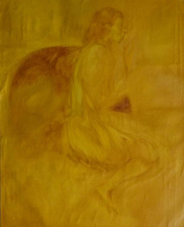 Divan, oil on canvas, 73x60 cm - Image 0