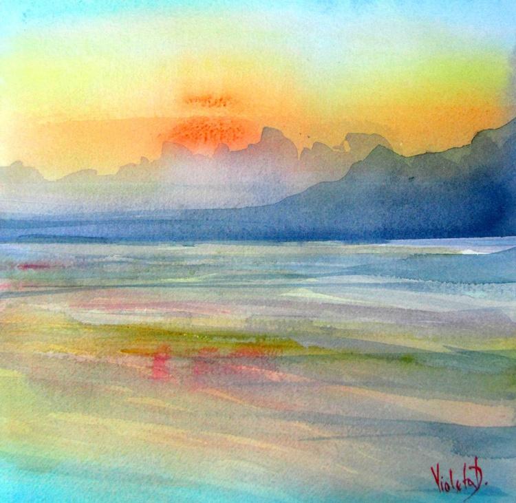 Homage to J.M.W. Turner: Sunrise in Santorini, Greece 1 - Image 0