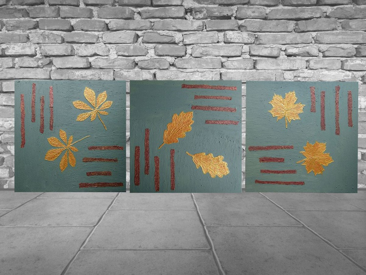 Beauty in Simplicity- large multipanelled painting - Image 0
