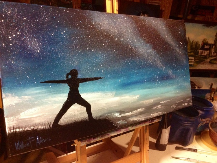 (Reduced!) - A Warrior Poses Among the Stars - Image 0