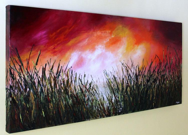 Demanding Days #5 - Large 135cm x 61cm Original Abstract Painting, Deep Edge Gallery Frame - Image 0