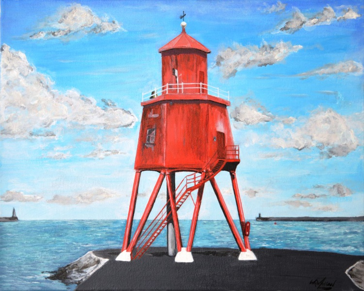 The Herd-Groyne Lighthouse of South Shields - Image 0