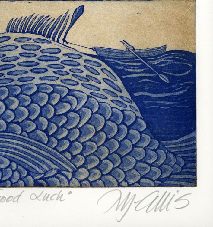 Good Luck,  aquatint etching - Image 0