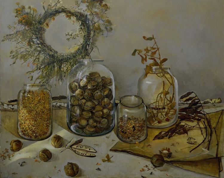 Still life with walnuts - Image 0