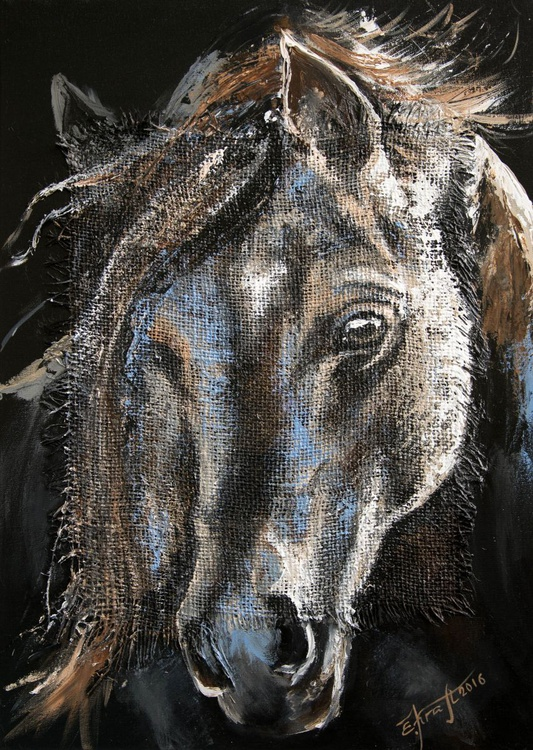 """Diana"", original acrylic painting, 50x70, ready to hang - Image 0"