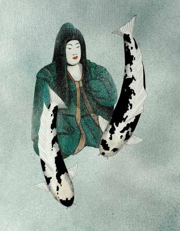 Japanese Empress Shinko Utsuri  Mono -